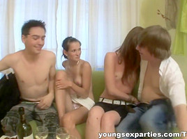 Wine and group sex party