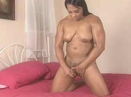 Chubby Black Shemale Showing Off Her Amazing Body To You