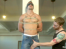 Straight Hunk Johnny Torques First Time Bound