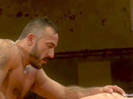 NakedKombat Clayton Pile Driver Kent vs Alessio El Lobo Romero The Hairy Match