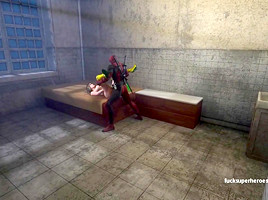 Deadpool and Rogue - Getting naughty in the bedroom