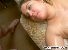 Amateur girlfriend enjoys a lot of cocks with facials