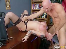 Big Tits at Work: Fucking With Her Boss. Darling Danika, Johnny Sins-