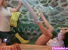 Czech babes orgasmic explosion after lez fun