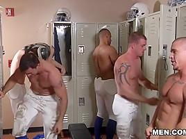 Adam Bryant, Cameron Foster, Darin Silvers, Phenix Saint, Robert Axel in Football DL Part 3 - JizzOrgy