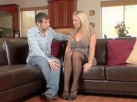 British big tits milf in stockings   heels