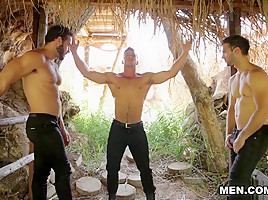 Gabriel Clark & Jessy Ares & Paddy O'Brian in Howl Part 2 - DrillMyHole