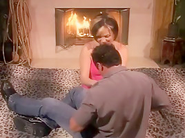 Voluptuous Babe Fucked In Front Of Fire