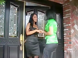 Exotic pornstars Nina Mercedes and Eva Angelina in horny dildos/toys, strapon xxx clip