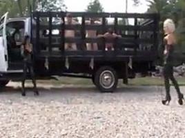 Slave farm ball torture