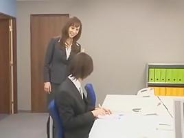 Exotic Japanese chick Honami Takasaka in Fabulous Fetish, Secretary JAV movie