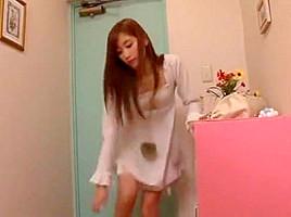 Exotic Japanese chick Chika Eiro in Incredible Squirting, Handjobs JAV video