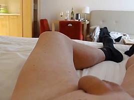 Me flashing the horny hotelmaid