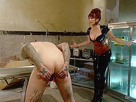 Alex Adams & Maitresse Madeline Marlowe & Ruckus & John Jammen in Extreme Femdom Prostate Milking Extravaganza - DivineBitches