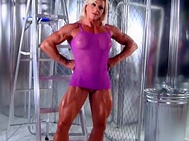 You tell muscle woman naked kitchen