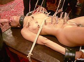 Nikki Darling & Juliette March & Natalie Moore & Derrick Pierce in Porn Star Anal Orgy - TheUpperFloor