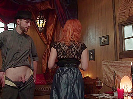 Maitresse Madeline Marlowe & Jimmy Bullet in Divine Bitches Halloween Special: Femdom Freakshow Sph Cock Edging - DivineBitches