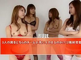 Amazing Japanese slut Nozomi Nishiyama, Yuna Hoshi, Yua Yoshikawa in Fabulous Toys, Lingerie JAV clip