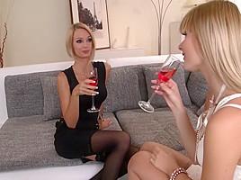 Horny pornstars Charlyse Bella and Erica Fontes in exotic cunnilingus, hardcore xxx scene