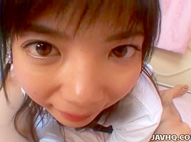Uncensored dick sucking with Japanese cutie Kozue Matsushima