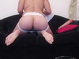 Latino stick huge dildo in ass