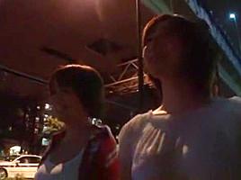 Exotic Japanese whore Nanako Mori, Haruki Sato, Meguru Kosaka in Fabulous Public, Car JAV movie