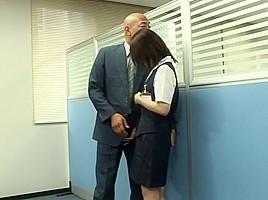 Hottest Japanese chick Megumi Shiina, Nana Miyachi in Incredible Amateur, Office JAV video
