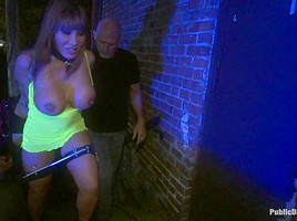 HUGE TITTED Ava Devine does DOUBLE ANAL in a bar full of STRANGERS