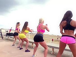 sexy women ass yoga