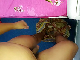 Cum on mother in law  s lungi again