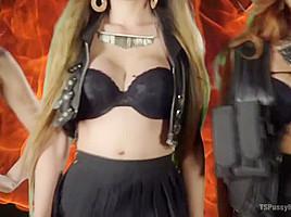 Jessica Fox  Kelli Lox  Venus Lux  Cheyenne Jewel in Cheyenne Jewel's First Ts Gang Bang - TSPussyHunters