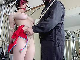 Sgt. Major & Iona Grace in Gym Babe Taken And Tormented - HogTied