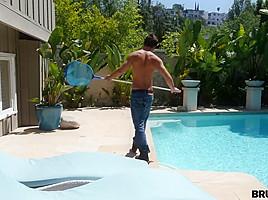 BrutalX - Alaina Kristar - Brute-fucked by a pool boy