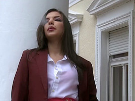 Horny pornstars Abbie Cat and Cherry Kiss in exotic blonde, college porn movie