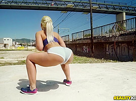 Briana Bounce & Marco Banderas in Working Out With Briana - MonsterCurves