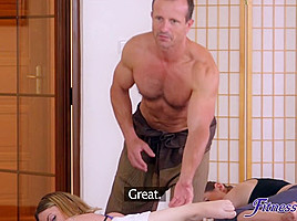 Alexis Crystal & Anne Simone & Cristal Caitlin & George Uhl in Yoga girls creampie threesome - FitnessRooms