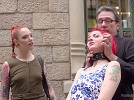 Petite Natural Whore Shamed In Public And Gang Fucked In Rope Bondage - PublicDisgrace