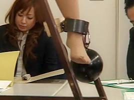 Amazing Japanese whore Kana Mimura, Rin Yamaki in Crazy BDSM, Office JAV clip