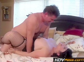 BBW Kelly Shibari from Roseanne XXX 69's and gets drilled hard