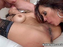 Francesca Le & Mandy Muse & Nadia Styles & AJ Applegate in Anal Swinger Orgy Video