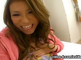 Busty Japanese slut deeply fucked in POV style