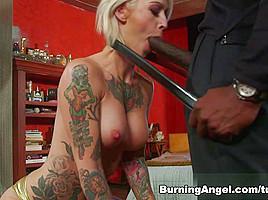 Kleio Valentien & Lexington Steele in Big Black Cock For Kleio Scene
