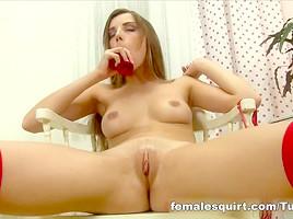 Gorgeous Tina Blade Emptying Her Cum Sack