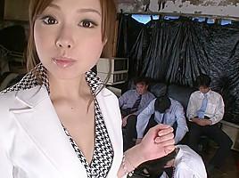 Crazy Japanese slut Aiko Hirose in Amazing JAV uncensored Gangbang movie