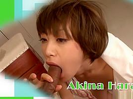 Amazing Japanese girl Akina Hara in Hottest JAV uncensored Creampie clip