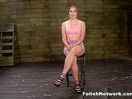 Rose Red Tyrell's Asshole is Fucked Rough & Deep in Rope Bondage with BDSM Fun - SexualDisgrace
