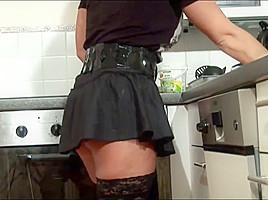 junior Boy Seduce Milf to Fuck and Cum on Stockings