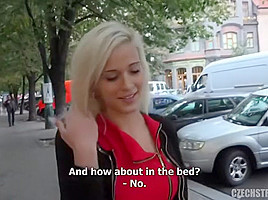 20-year-old Czech next door girl giving head in the car