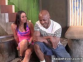 Adrianna Luna in My First Big Black Cock - AsianFever