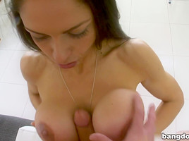 Latina With BigTits Gets A Cream-Pie